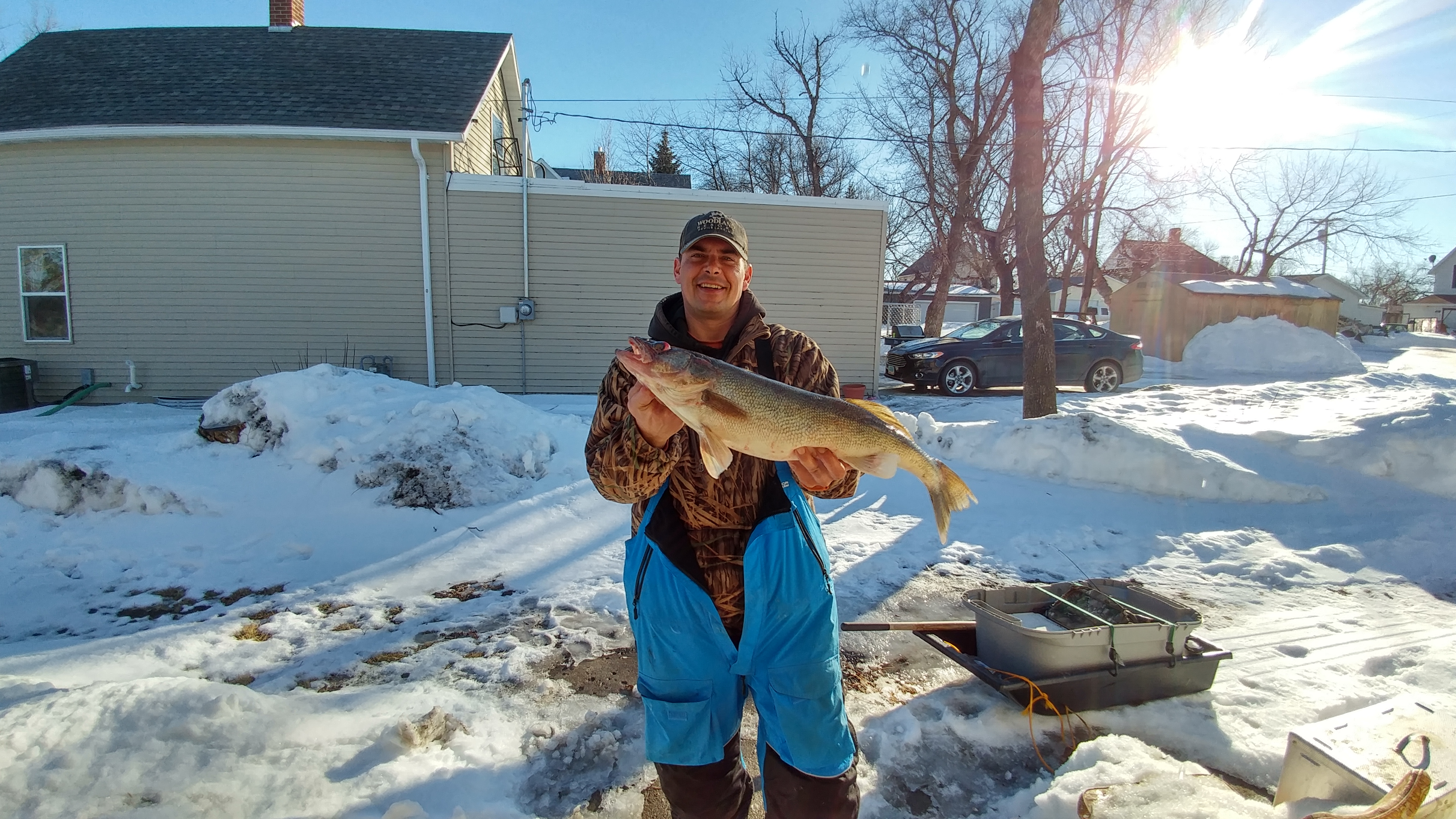 2016 2017 ice fishing year in review devils lake fishing for Devils lake fishing report