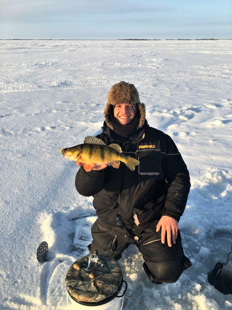 Fish behavior fish activity devils lake fishing report for Devils lake ice fishing reports